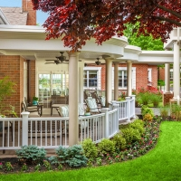 Relaxing Front Porch and Gardens